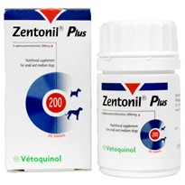 Zentonil Plus for Small and Medium Dogs 200mg (20 tablets)