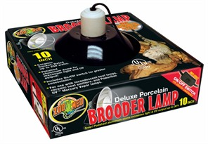 Dlx Porcelain Brooder Lmp (Blk - UL Listed) 10""