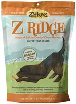 Z Ridge Dental Chew Medium Bones Carrot (16 oz)