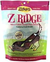 Z Ridge Dental Chew Mini Bones Cranberry (7.75 oz)