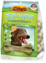 Zukes Z-Bones Edible Dental Chews Large Clean Apple Crisp - 6 ct (15 oz)